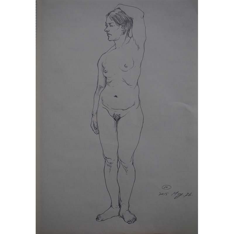 女性ヌードドローイング