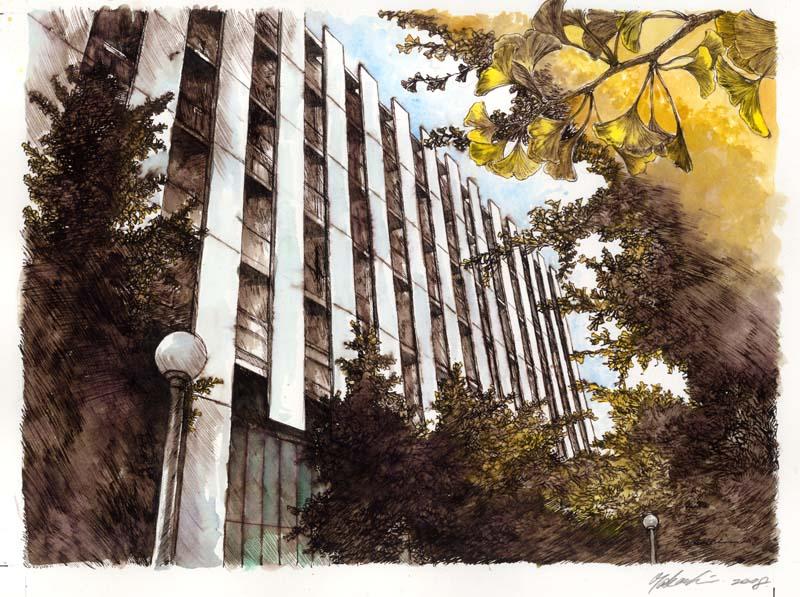 早稲田大学生協カレンダー原画2008