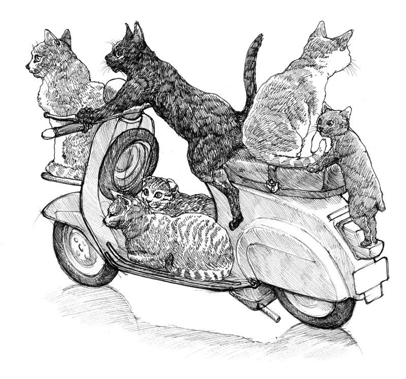 ネコとベスパ2