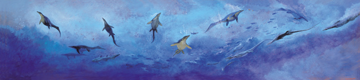 三畳紀海の世界